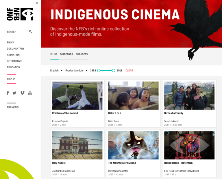 Canadian Indigenous Film Catalog