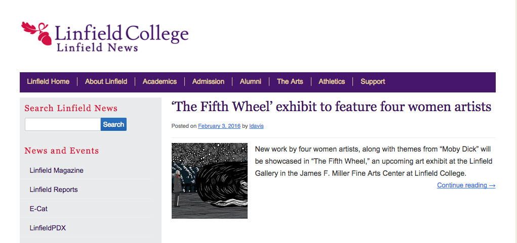 Press for Fifth Wheel at Linfield College